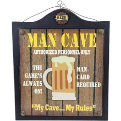 Man Cave Authorized Personnel Only Vintage Wood Sign