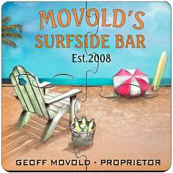 Personalized Surfside Coaster Puzzle Set