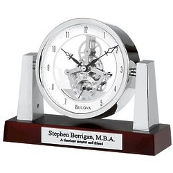 Largo Personalized Tabletop Clock with Skeleton Movement