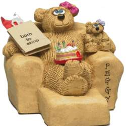 Personalized Mother Kids/Grandkids Bears in Chair