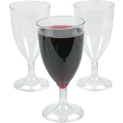 Clear Plastic Wineglasses