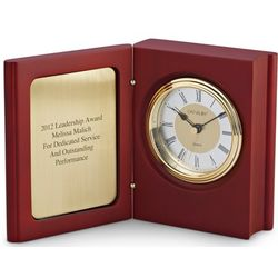 Mahogany Book Clock