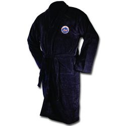New York Mets Black Terrycloth Logo Bathrobe