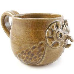 Retro Owl Stoneware Mug