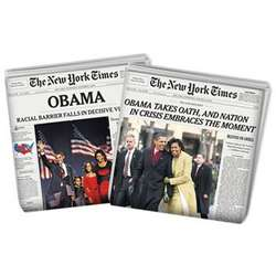 Barack Obama's Election and Inauguration Newspaper Combo