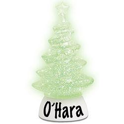 Personalized LED Swirl Glitterdome Tree