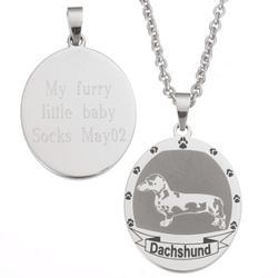 Stainless Steel Dachshund Pendant