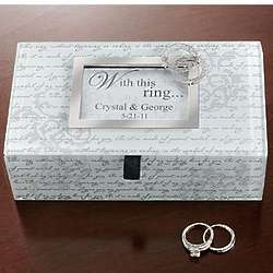 Personalized With This Ring Wedding Card Box
