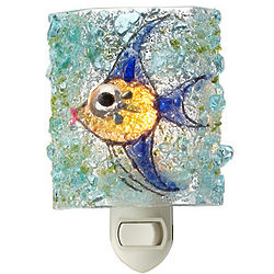 Recycled Glass Angelfish Night Light