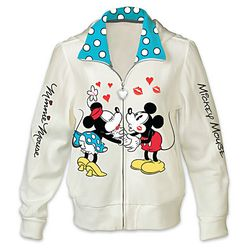 Disney Kissin' Mickey and Minnie Women's Hoodie