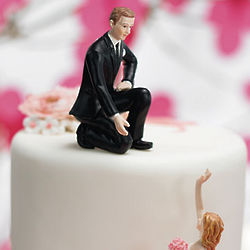 Hooked on Love Helpful Groom Cake Topper Figurine