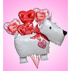 Love Puppy Jumbo Mylar Balloon Bundle