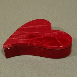 Red Alabaster Heart Box