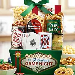 Dad's Best Poker Night Gift Basket