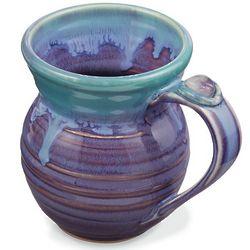 Jeweled Handle Hand-Glazed Mug