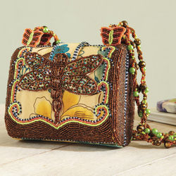 Beaded Dragonfly Handbag
