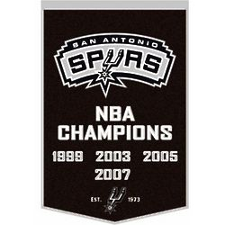 San Antonio Spurs Vintage Wool Dynasty Banner with Cafe Rod