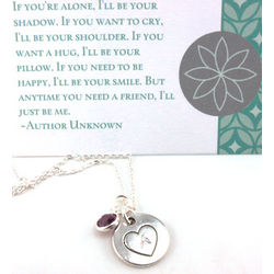 Personalized Hand-Stamped Necklace with Card
