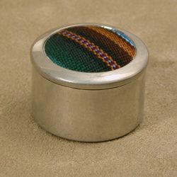 Pewter & Cotton Trinket Box