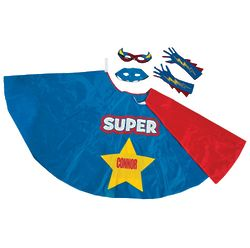 Boy's Superhero Costume Kit with Mask, Gloves, and Cape
