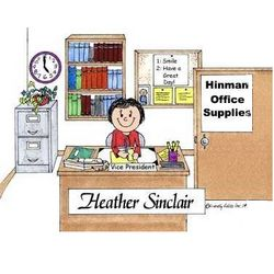 Messy or Neat Office Personalized Cartoon