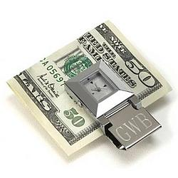 Personalized Time Piece Money Clip