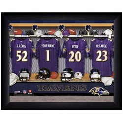 Baltimore Ravens Customized Locker Room Framed Photo
