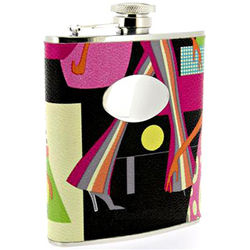 Engravable Fashionista Hip Flask