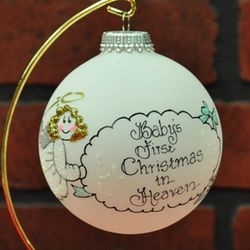 babys first christmas in heaven memorial ornament