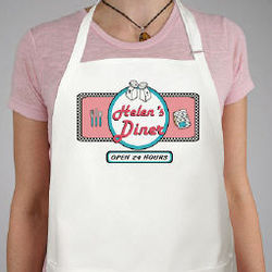 Personalized 24 Hour Diner Apron