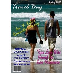 Travel Bug Personalized Magazine Cover Print