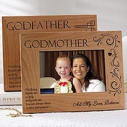 Personalized Godparent Picture Frame