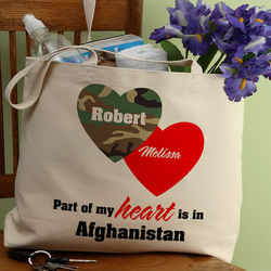 Personalized Military Wife Tote Bag