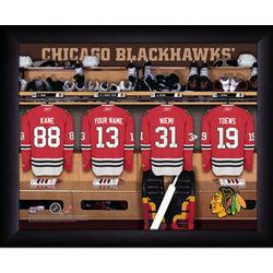 Personalized NHL Chicago Blackhawks Locker Room Print