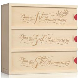 Love Birds Anniversary Wine Box