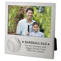 Baseball Dad Picture Frame