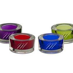 Colored Glass Votive Candle Holder Set