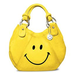 Bright Yellow Smile Face Fashion Handbag