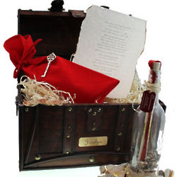 Treasured Love Message in a Bottle and Chest