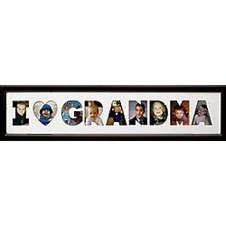 Personalized We Heart Grandma Horizontal Photo Collage Frame