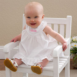 Oh So Cute Embroidered Baby Dress with Bloomers