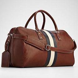Brown Leather Weekender Bag
