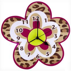 Berry Leopard Wall Clock