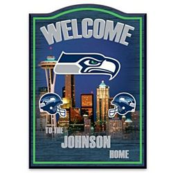 Seattle Seahawks Personalized Welcome Sign