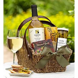 Sonoma White Wine Escape Gift Basket