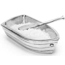 Pewter Row Boat Salt Cellar