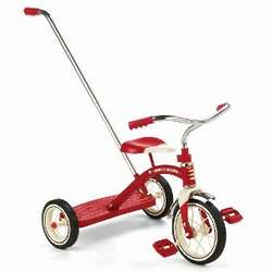 Radio Flyer 34T Classic Red Tricycle with Push Handle