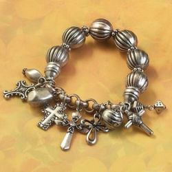 Antique Multi Cross Bracelet