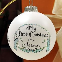 My 1st Christmas in Heaven Ornament for Male