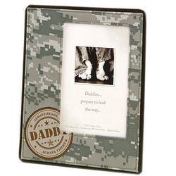 Military Daddy Photo Frame in Camouflage